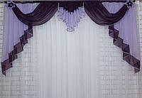 Ламбрекен на карниз 2м. №65 Фиолетовый с сиреневым