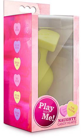 Анальная пробка Naughtier Candy Heart  - Do Me Now, желтая, фото 2
