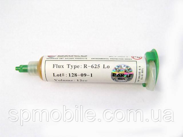 Флюс паста BAKU R-625 10 LO-12CC Lot#:128-09-1 в шприце, не требует смывания