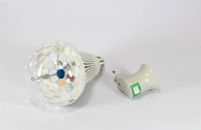 Диско лампа + переходник LASER Rotating lampi, вращающаяся светодиодный шар , фото 2