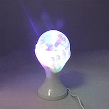 Диско-лампа РУКА LED Full Color Rotating Lamp цветомузыкальная светодиодная лампа, фото 3