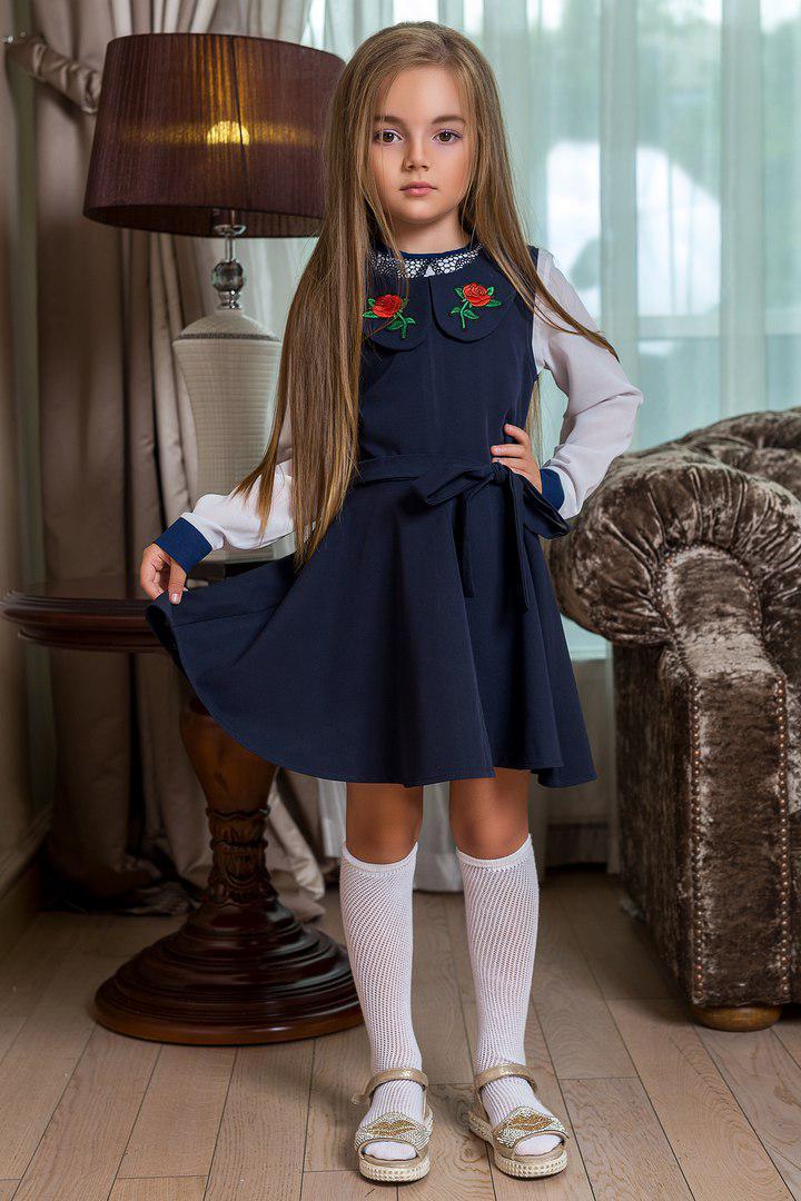 Детский сарафан с вышивкой 6-10 лет