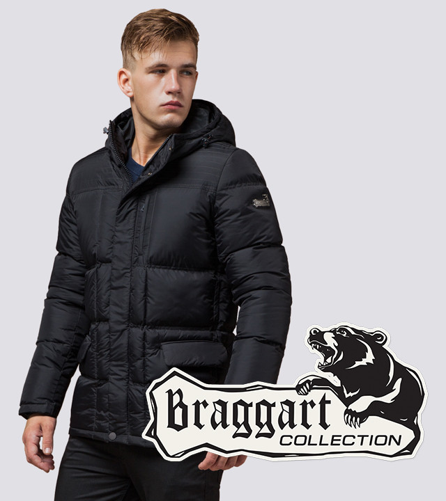 Braggart Dress Code 2609 | Куртка зимняя мужская c тинсулейтом графит