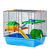 Клетка GINO I COLOR + PLASTIC Inter Zoo для хомяков и маленьких грызунов (420*290*380 мм)