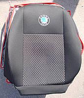 Авточехлы VIP SKODA Fabia 2010-2014 автомобильные модельные чехлы на для сиденья сидений салона SKODA Шкода Fabia