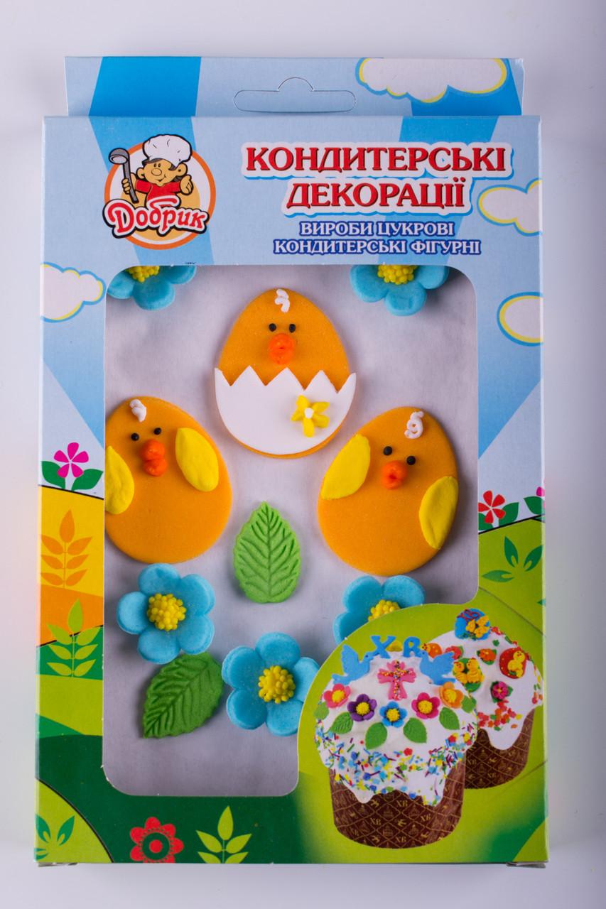 Декор кондитерський Добрик Набір Веселі яйця 15 шт./ящ. (коробка)