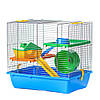 Клетка из цинка для хомяков GINO I ZINC + PLASTIC Inter Zoo G044 (420*290*380 мм)