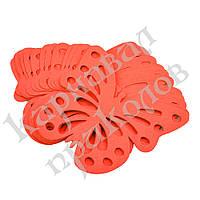Декор бумажный Бабочки (уп. 24шт) красный, фото 1