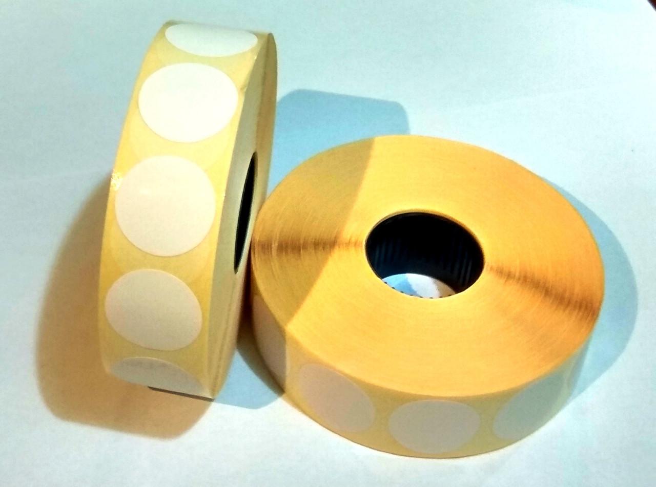 Термоетикетка Т. Еко коло 20 мм 2000 етикеток кругла 10 шт White (Ф20Т2000)