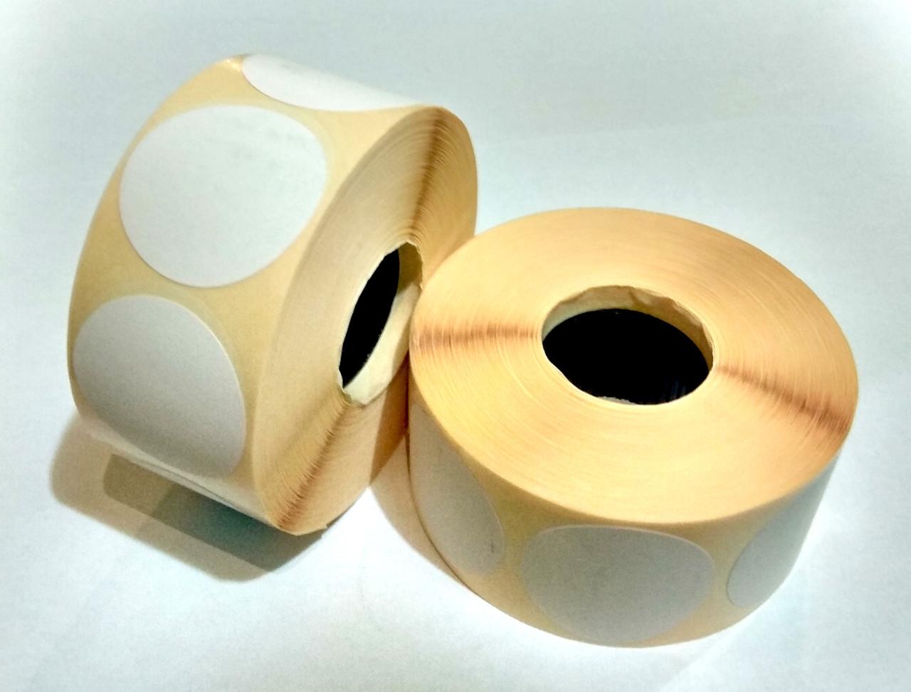 Термоэтикетка Т.Еко круг 50 мм 1000 этикеток круглая 10 шт White (Ф50T1000)