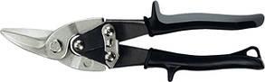 """Ножницы по металлу """"PIRANHA"""",250мм,прямой и левый рез,сталь-СrMo,двухкомп.рук-ки// GROSS"""