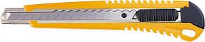 Нож,9 мм, выдвижное лезвие, металлическая направляющая// SPARTA