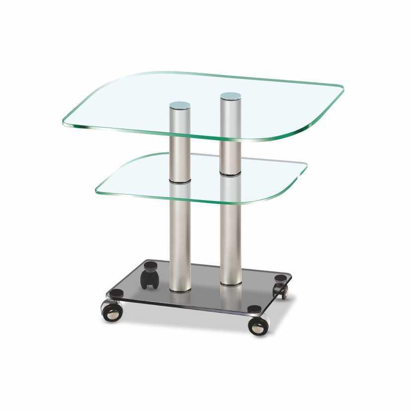 Стеклянный столик  фигурный ccg_met (650x450x520)