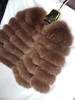 Женская короткая шуба из меха песец, фото 1