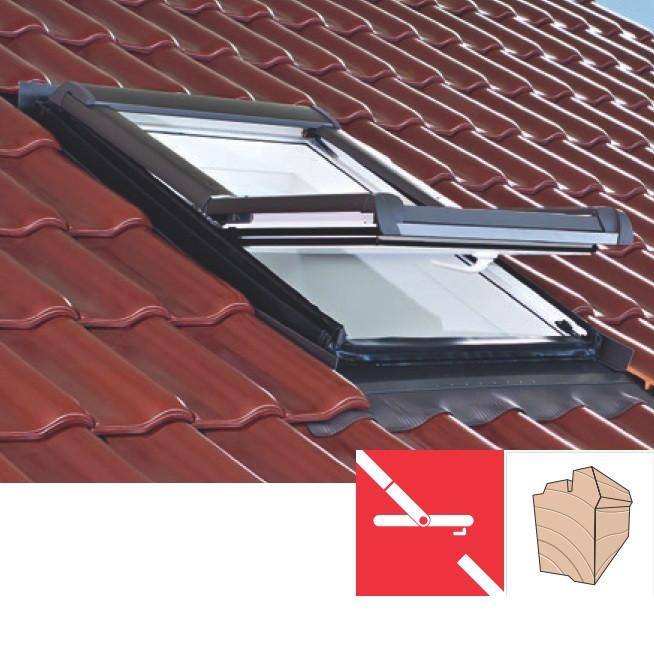 Мансардне вікно Roto Designo R45 (дерев'яне)