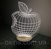 Светильник - ночник оптический обман Яблоко Apple (2D превращающий в 3D)