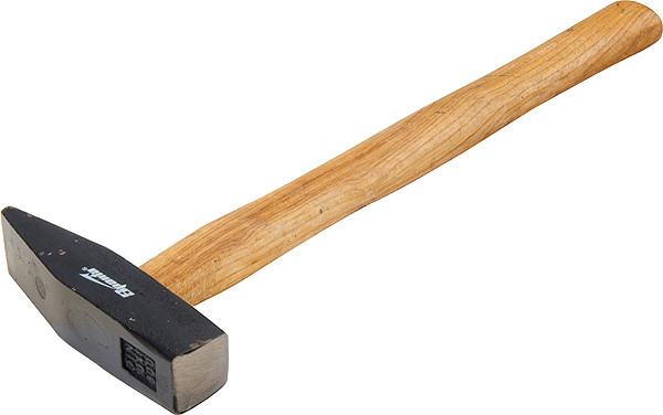Молоток слюсарний, 100 г, квадратний бойок, дерев'яна ручка// SPARTA