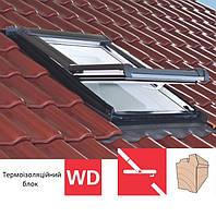 Мансардне вікно Roto Designo R45 (дерев`яне)(з термоізоляційним блоком WD)