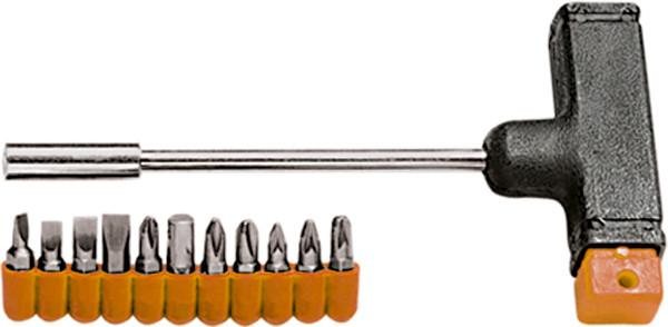 Отвертка с Т-образной ручкой, набор бит, 11 шт. Sparta