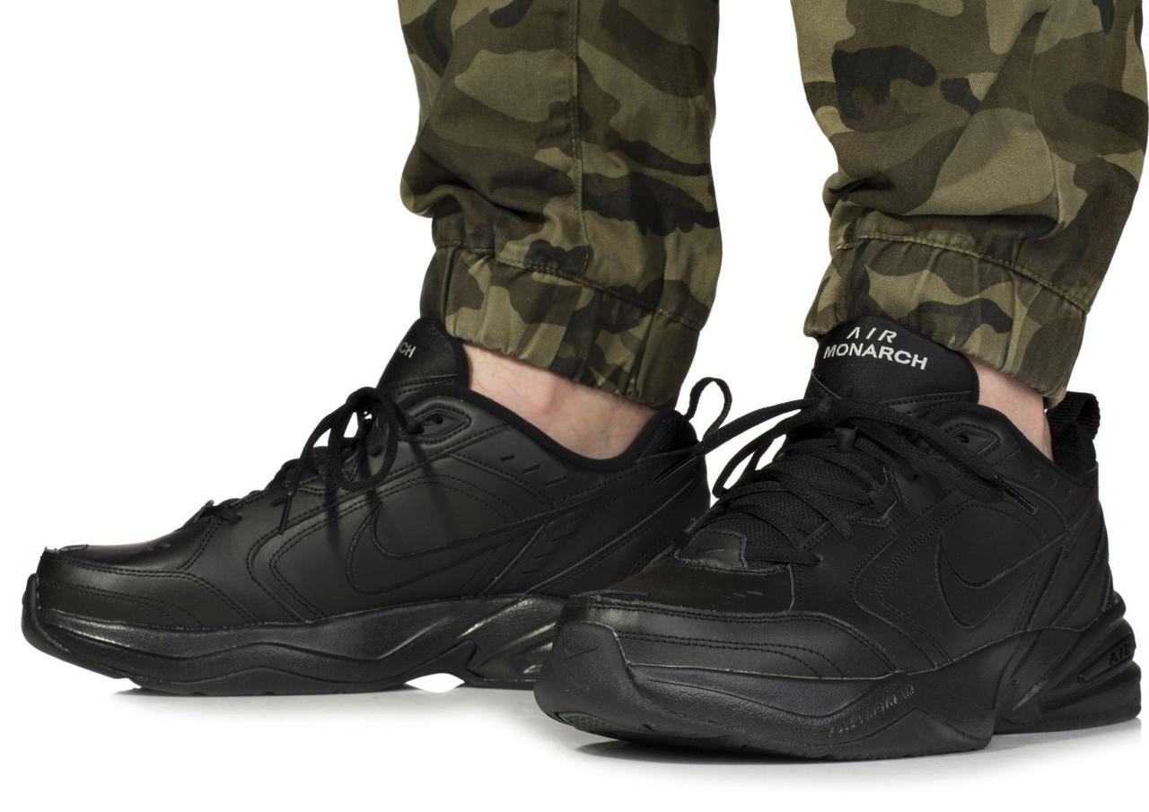 61bc2e69 Оригинальные мужские кроссовки Nike Air Monarch IV Black - Интернет-магазин  zakyt.com -