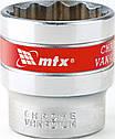 Головка торцевая 27 мм, двенадцатигранная, CrV, под квадрат 1/2, хромированная MTX Master, фото 3