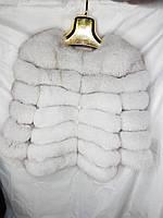 Женская короткая шуба из меха песец