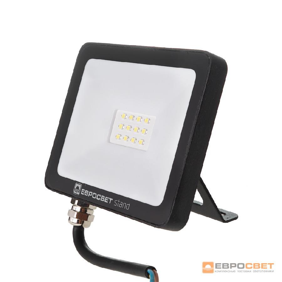 Прожектор ЛЕД 10Вт 6400K Slim Standart Евросвет
