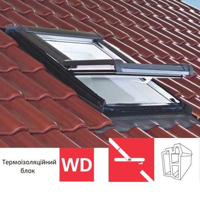 Мансардне вікно Roto Designo R45 (ПВХ)(з термоізоляційним блоком WD) 114х118 см