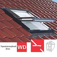 Мансардне вікно Roto Designo R45 (ПВХ)(з термоізоляційним блоком WD) 54х118 см