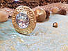 Латуневый Классический Подхват для штор с камнем REC116 золото