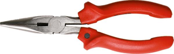 Длинногубцы, Standard, 160 мм, прямые шлифованные, пластмассовые рукоятки// MTX