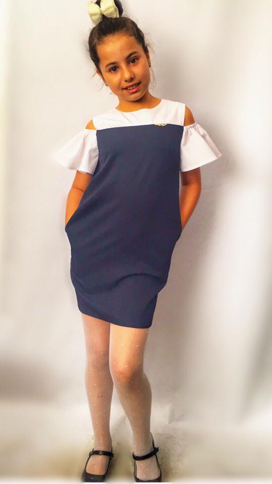 Детское платье- сарафан с воланами