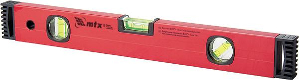 Уровень алюминиевый, 400 мм,, фрезерованный,  3глазка MTX
