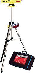 Уровень лазерный, 400 мм, 850 мм штатив, 3 глазка, (база, 2 линзы, очки) в пласт. боксе// MTX