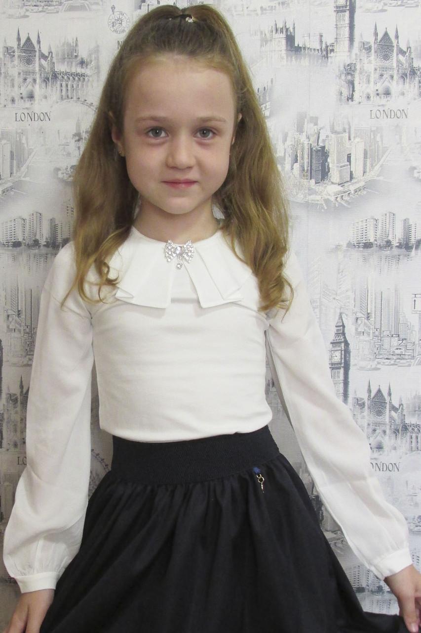 2d0103c6d3e Детская школьная блузка длинный рукав