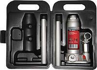 Домкрат гидравлический бутылочный, 2 т, h подъема 181 345 мм, в пласт. кейсе// MTX MASTER