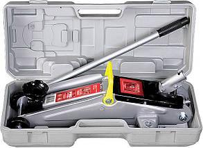 Домкрат гидравлический 2 т, подкатный, h подъема 135-385 мм, в пластиковая кейсе Matrix Master 51028