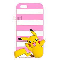 """Прорезиненные чехлы """"Pokemon Small"""" для iPhone 6 - розовый"""