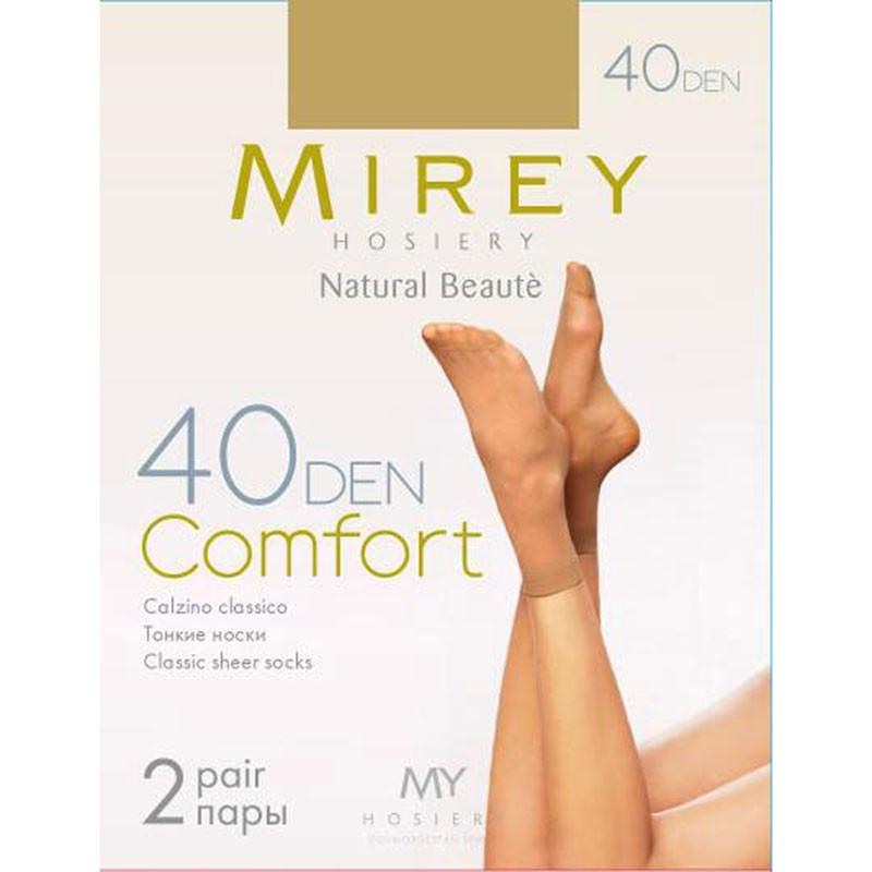 Недорогие тонкие классические матовые носки Mirey 40den comf-no40