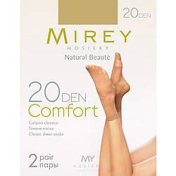 Женские носки оптом тонкие классические матовые капроновые Comfort 20den comf20