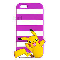 """Прорезиненные чехлы """"Pokemon Small"""" для iPhone 6 - фиолетовый"""