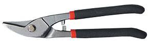 Ножницы по металлу, 225 мм, для фигурного реза, обливные рукоятки // MTX