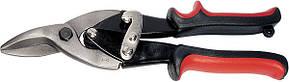 Ножницы по металлу, 250 мм, левые, обрезиненные рукоятки//MTX