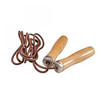 Скакалка кожаная LiveUp Jump Rope Leather (скоростная)