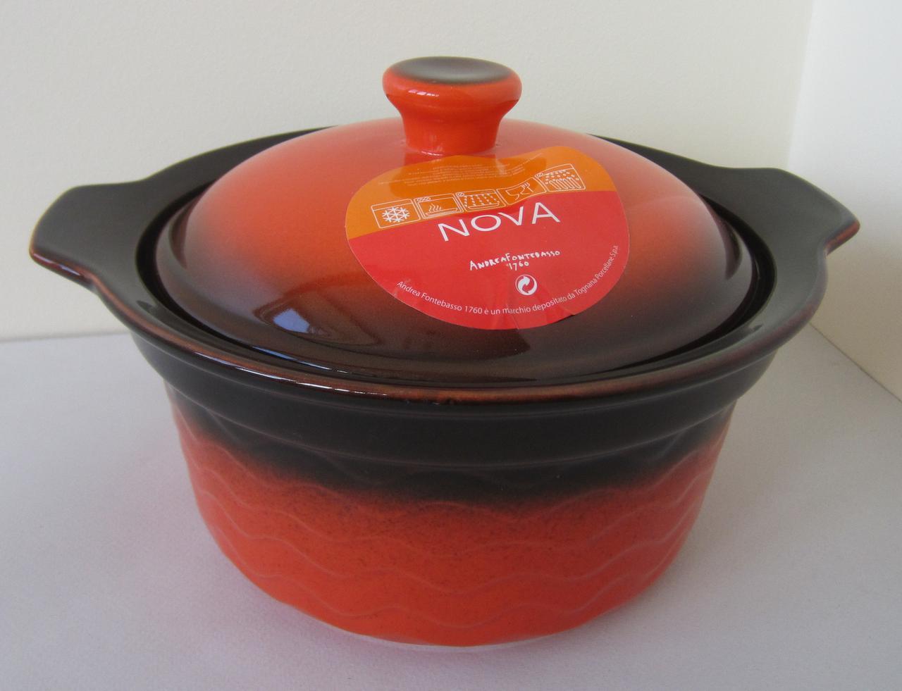 Кастрюля из жаростойкого фарфора 1,2 л Nova