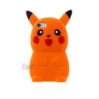 """Прорезиненные чехлы """"Pokemon Big"""" для iPhone 6 - оранжевый"""