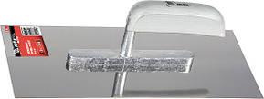 Гладилка из нержавеющей стали, 280 х 130 мм, деревянная ручка// MTX