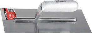 Гладилка стальная, 280 х 130 мм, зеркальная полировка, деревянная ручка// MTX