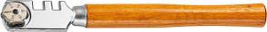 Стеклорез 6-роликовый с деревянной ручкой// SPARTA