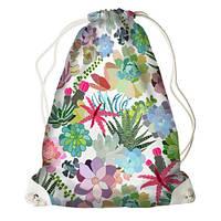 Рюкзак-торба  квіти тропіків